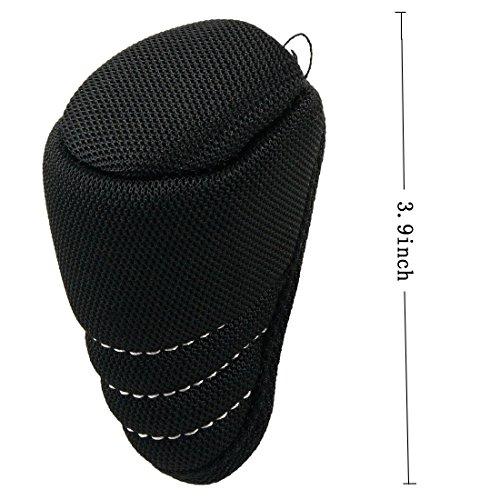 ZYHW Black Zipper Closure Gear Shift Knob Cover for Dodge Ford Auto Car Truck