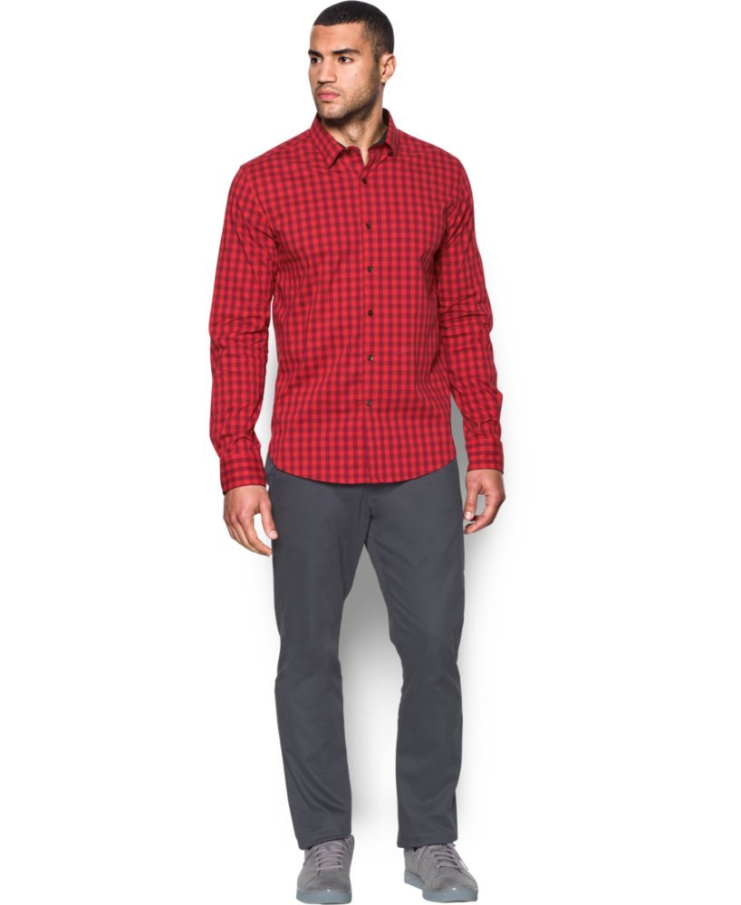 Under Armour Men's Performance Woven Shirt, Red/Cardinal, Small by Under Armour (Image #4)