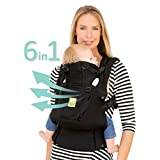 SIX-Position, 360° Ergonomic Baby & Child Carrier by LILLEbaby - The COMPLETE Airflow (Black)