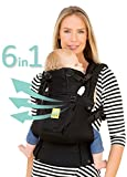 SIX-Position, 360° Ergonomic Baby & Child Carrier by LILLEbaby – The COMPLETE Airflow (Black)