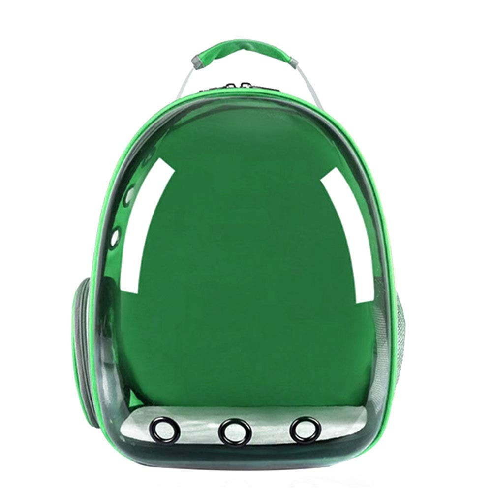 Green 34X28X42cmPet Backpack Transparent Space Bag Outgoing Carrying Case Chest Shoulder Bags Handbag Dog Bags Cat Cage (color   Yellow, Size   34X28X42cm)