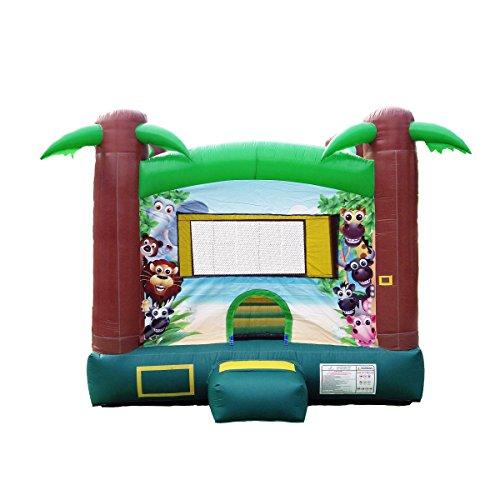 JumpOrange Duralite Safari Party House Bounce House Backyard Party Moonwalk Size 13'x13'