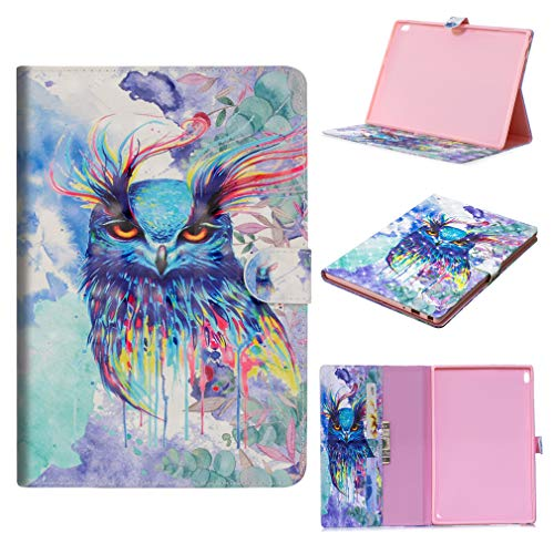 LMFULM? Case for Samsung Galaxy Tab S2 / SM-T810 / T815 / T813 (9.7 Inch) PU Leather Ultra Thin Magnetic Closure Foldable Case Little Cat Pattern of Bookstyle Card Slot Smart Cover with Auto Wake / Sl Color-9
