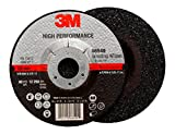3M 66549 High Performance Depressed Center Grinding Wheel T27 Quick Change, 5'' x 1/4'' x 5/8-11'' Ceramic Grit (Pack of 10)