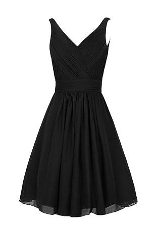 CCBubble 2017 Cheap Prom Homecoming Dresses V-Neck Short Graduation DressBlack-2