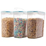 Komax Biokips Original Airtight Cereal Storage Containers (3 Pack) - Airtight, 4 Side