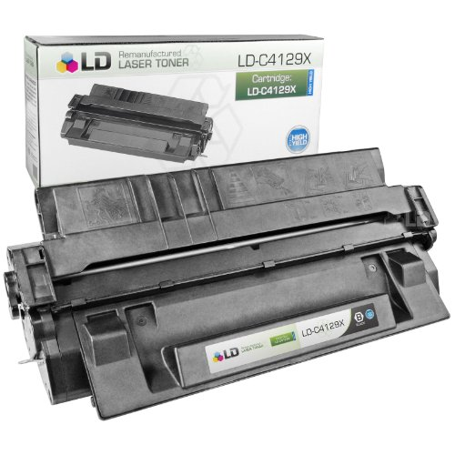 Fax Opc Drum (LD Remanufactured Replacement Laser Toner Cartridge for Hewlett Packard C4129X (HP 29X) Black)