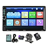 Toogoo GPS Navigation 2 Din Car Bluetooth Radio Multimedia Mp5 Player 7 inch Touch Screen with Camera+Middle East Map+Steering wheel control