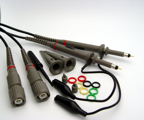 Oscilloscope Probe Kit - Hantek 2X 200MHz Oscilloscope Switchable Clip Probes with Accessory Kit