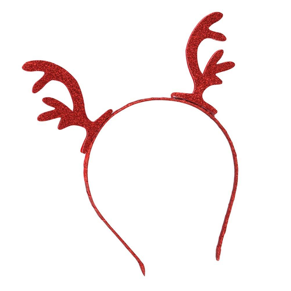 Xmas Rentier Geweih Kopfschmuck Deer Hirsch Haarreif Weihnachten Party Zubehör