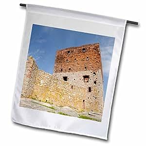 Danita Delimont - Castles - Denmark, Bornholm, Hammershus Castle ruins - EU07 CMI0082 - Cindy Miller Hopkins - 18 x 27 inch Garden Flag (fl_81281_2)
