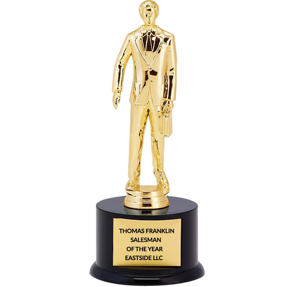 11 inch Salesman Trophy with Free Engraving