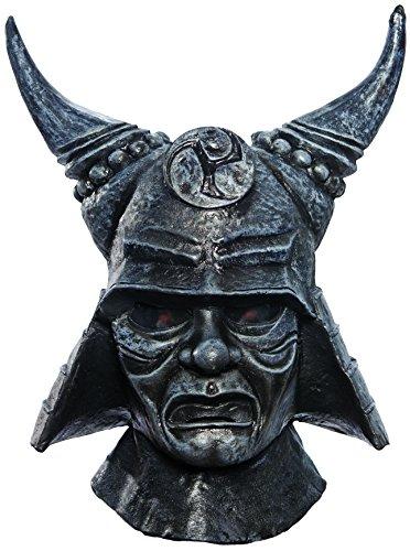 Rubie's Costume Co Men's Sucker Punch Samurai Deluxe Overhead Latex Mask, Gray, One Size