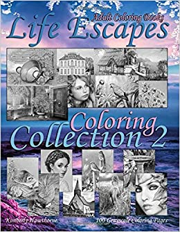 Amazon Com Adult Coloring Books Life Escapes Coloring Collection 2