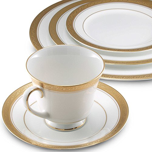 Crestwood Collection (Noritake 5-Piece Crestwood Place Setting, Gold)