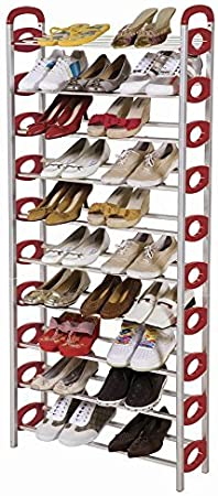 American Phoenix Multi Color 6 Tire-10 Tire 30 Pair-50 Pair Sturdy Metal Shoes Racks with Plastic Bars Green, 6 Tire Portable 10 Tier Shelf Storage Organizer Space Saving Tower Shoes Rack