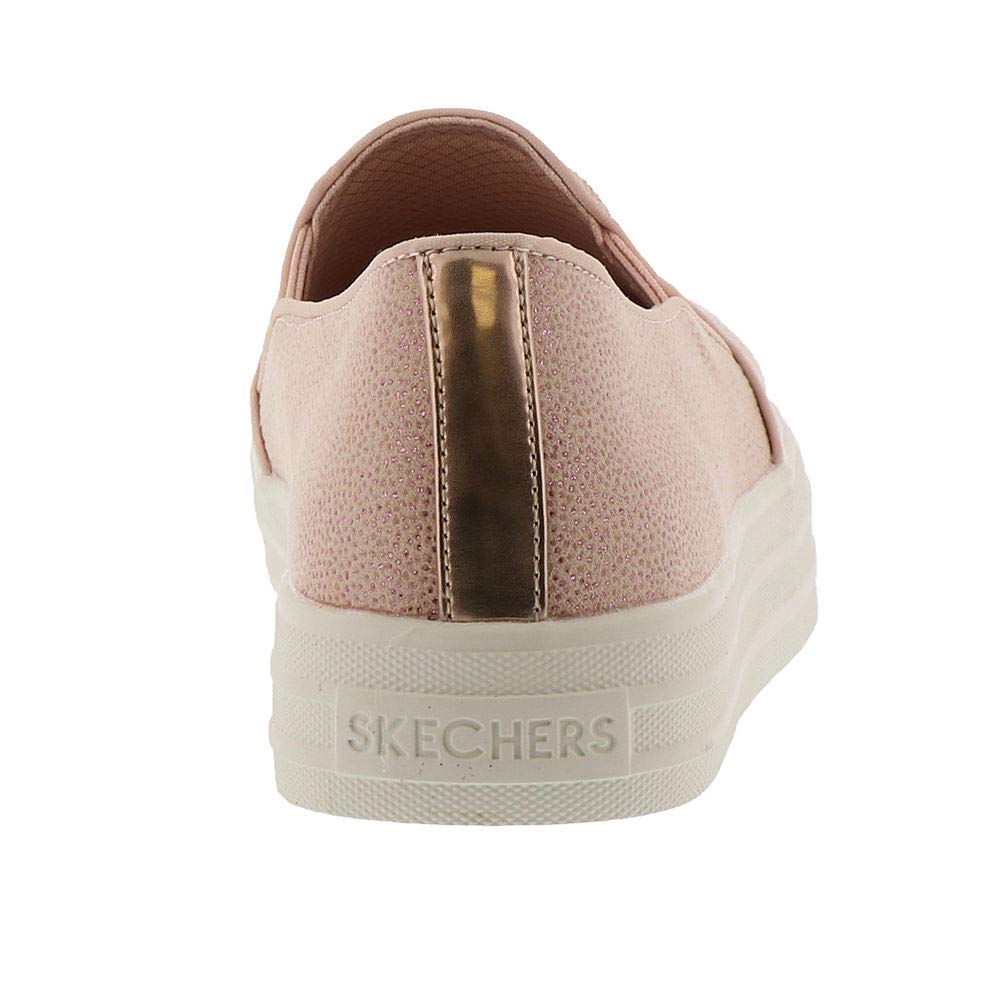 Skechers Double Up Fairy Dusted Womens Slip On Sneakers Light Pink 7.5 by Skechers (Image #6)