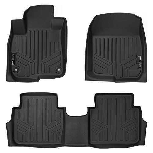 MAX LINER A0250/B0250 Custom Fit Floor Mats 2 Row Liner Set Black for 2017-2019 Honda CR-V