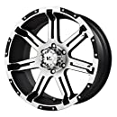 """V-Rock Overdrive Matte Black Wheel with Machined Spoke and Lip (17x9""""/6x135 mm)"""