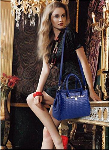 3 Blue Bag Dark shoulder Totes Leather Pieces Bags Womens purse Set Handbag Yaancun Shoulder Pu 6vqUwWA