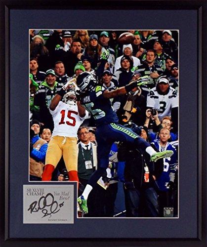 Seattle Seahawks Richard Sherman Championship Tip Photograph Sga Signature Series