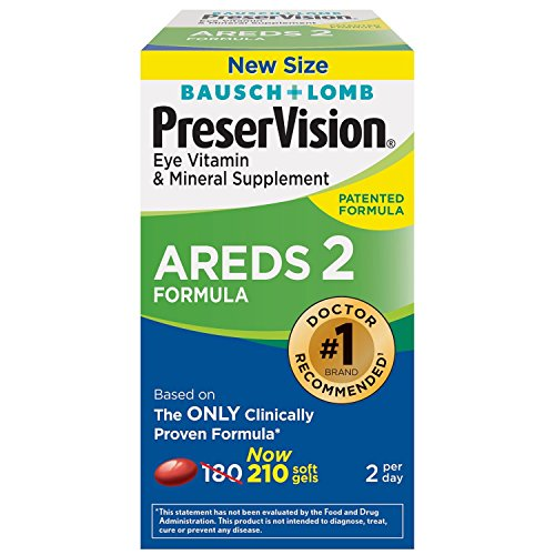 Bausch & Lomb PreserVision AREDS 2 Formula Supplement (210ct) (Bausch And Lomb Preservision Areds 2 Formula)