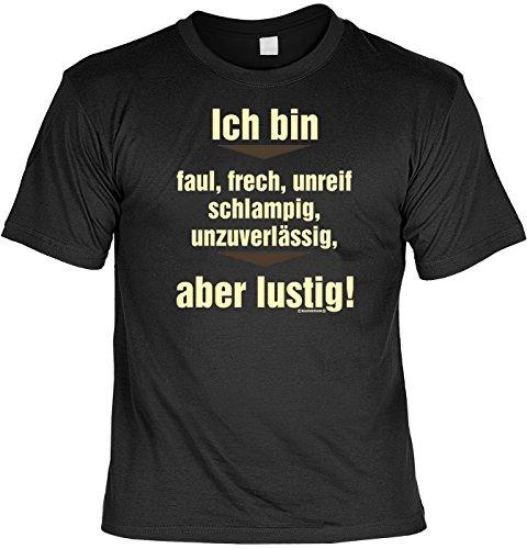 Tshirt Mit Urkunde Ich Bin Faul Frech Unreif Schlampig