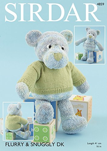 Sirdar Teddy Bear Toy & Sweater Flurry & Snuggly Knitting Pattern 4859 DK, Chunky