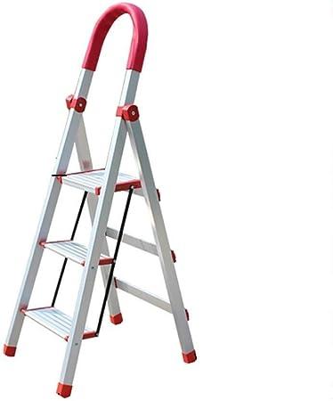 ZfgG Escala Que Sube Plegable Escalera de Aluminio Inicio 3 Escalera Plegable, Cocina de Mantenimiento de Office, Ancho Pedal: Amazon.es: Hogar