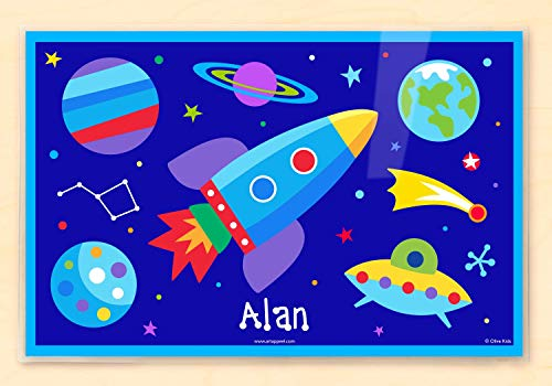 Olive Kids Out of This World Personalized Placemat (Personalized Placemats Christmas)