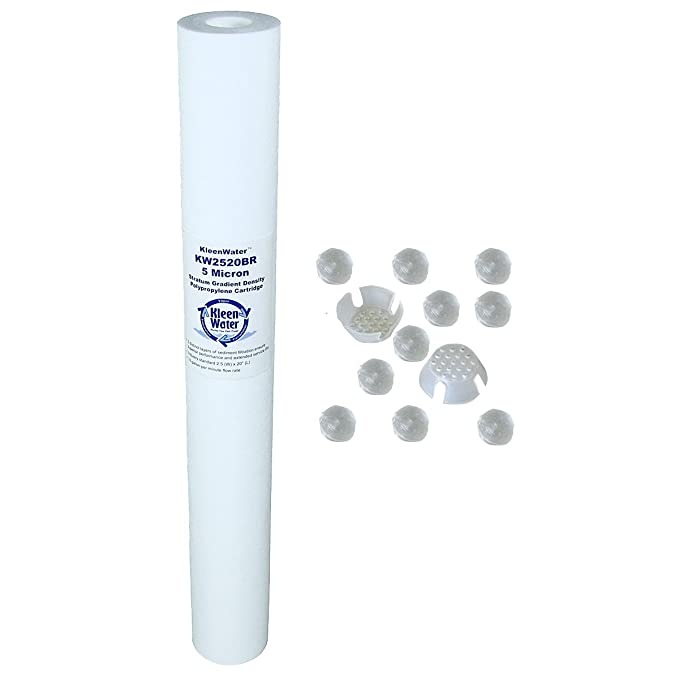 KleenWater kw2520-scale-x calentador caliente sistema de filtro de agua, filtro de polifosfatos para escala prevención, 14 GPM caudal: Amazon.es: Hogar