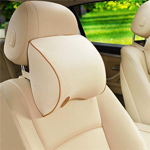 HCMAX Auto-Nackenkissen Fahren komfortabel weich Gedächtnisschaum Auto-Sitz-Kopfstütze Schützen Sie Hals und Wirbel Fit Reise/Büro/Zuhause/Auto