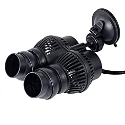 SUNSUN JVP201 1600 GPH Wave Maker Aquarium Circulation Pump Submersible Powerhead USA (Suction Cup, JVP 201-1600 GPH) by i-mesh-bean