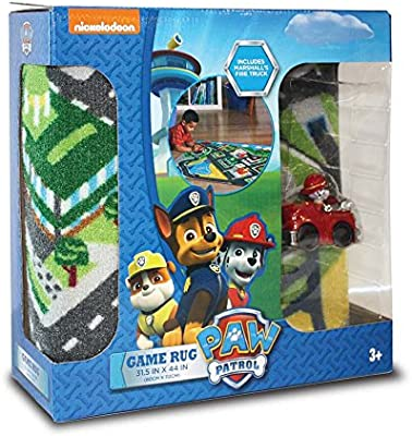 Amazon.c: Paw Patrol Toys Rug: Marshall in Fire Truck Toy Car ...