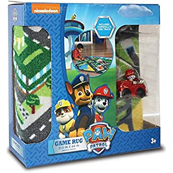 Amazon Com Nickelodeon Paw Patrol Toys Rug Marshall In