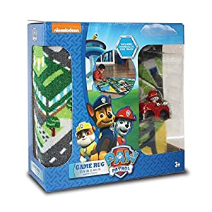 paw patrol toys rug marshall in fire truck toy car adventure bay kids game rugs throw play mat 32x44
