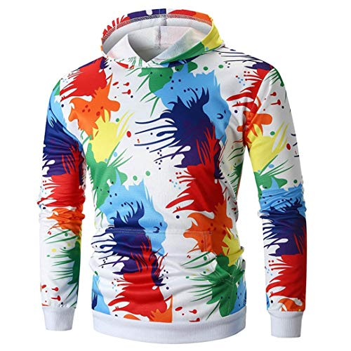 De Hoodies Blouse Blanc Poche Hiver zahuihuiM Doodle Longues No Manches avec l Casual Nouveau Outwear Hommes Manteau Tops Lache OUq5x8qw7