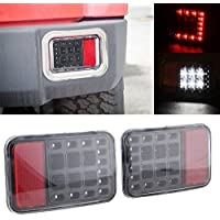 Nicebee LED Tail Rear Back Bumper Light Back up Reverse Lights Back Brake Light Assembly for Jeep Wrangler JK 2007-2016