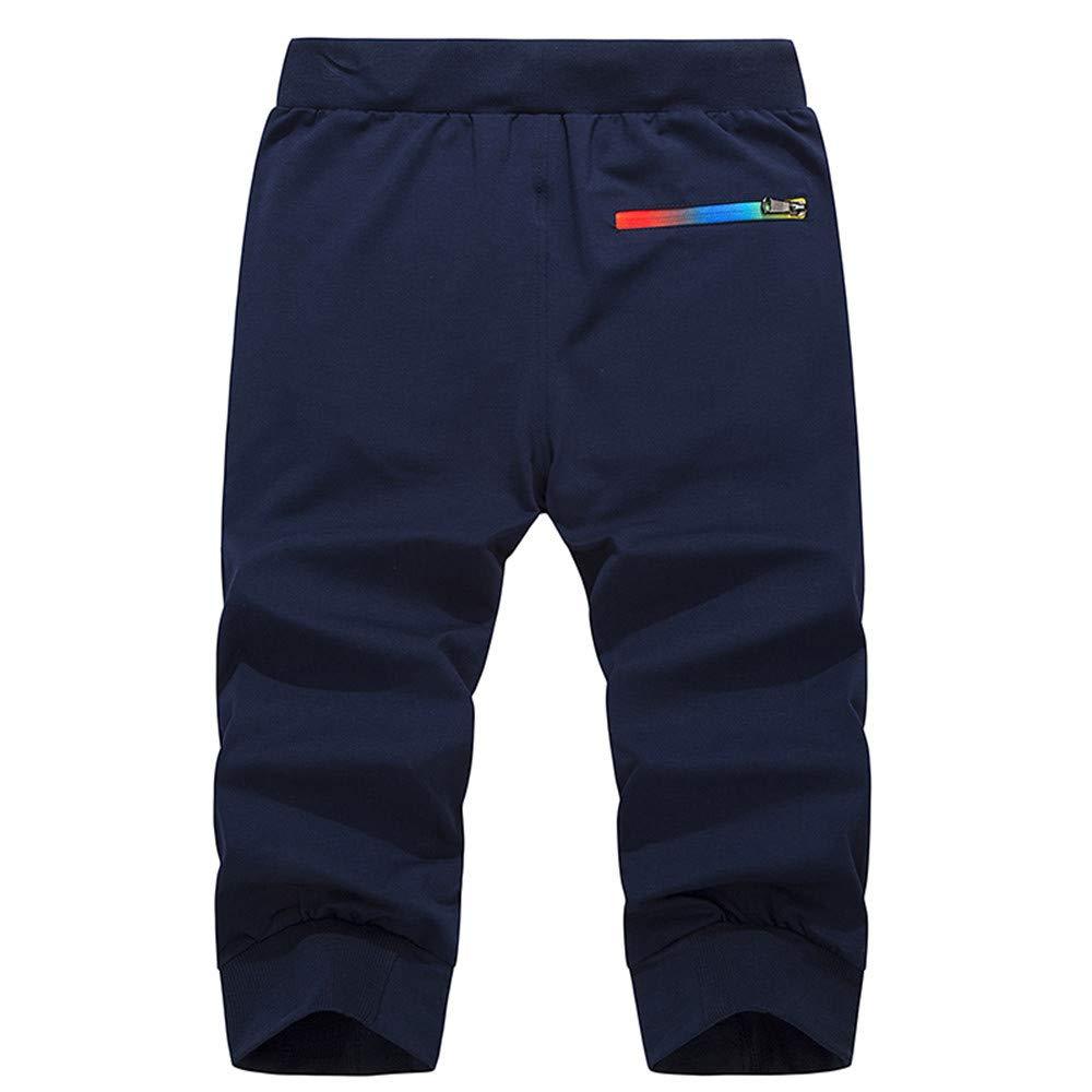 Wang-RX Pantalones Cortos Casuales de Verano Hombres Ropa ...