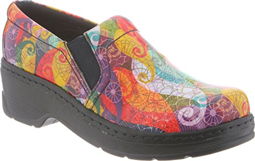Klogs Womens Naples Clog,Micro Puff Patent Leather,US 7.5 W