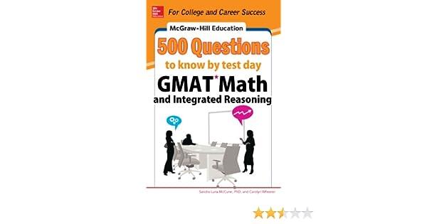 Amazon com: McGraw-Hill Education 500 GMAT Math and