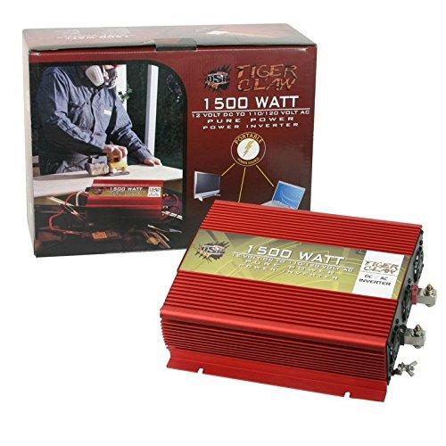 Tiger Claw 1500W Pure Sine Wave Power Inverter DC-AC 1500 Watt 3000 Watt Peak