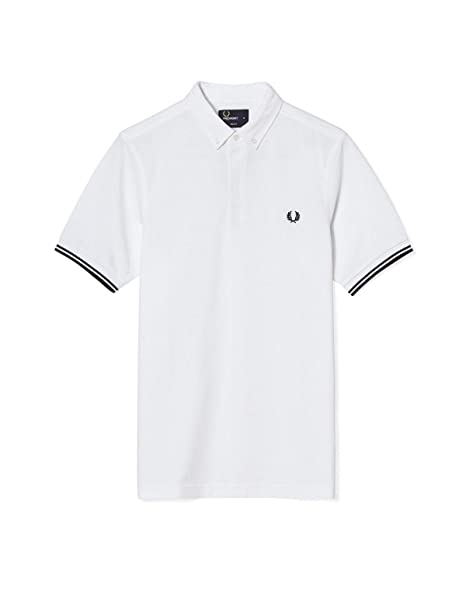 Fred Perry Authentics Concealed Plackett Polo CARBON BLUE Small ...