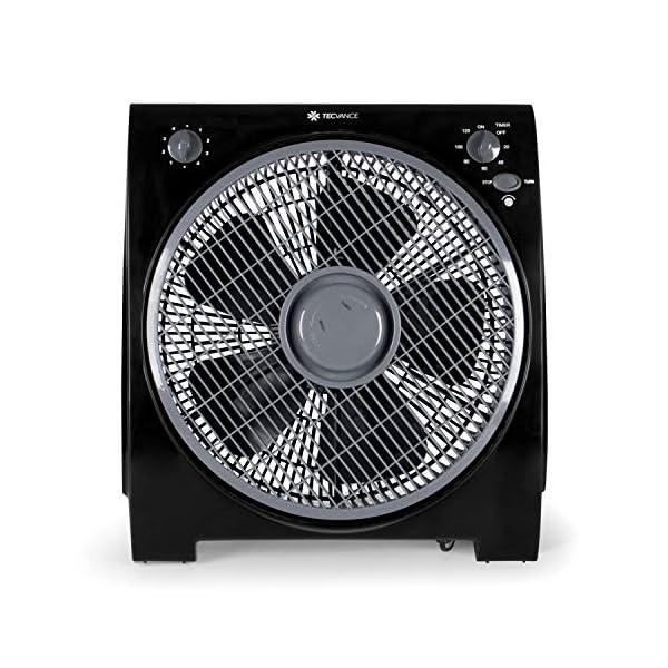 51mRD2eu7tL Tecvance, Schwarz Box Fan Ventilator (32 cm) -Raumventilator mit 4 Stufen und Timer, Kleiner, leiser & leistungsstarker…