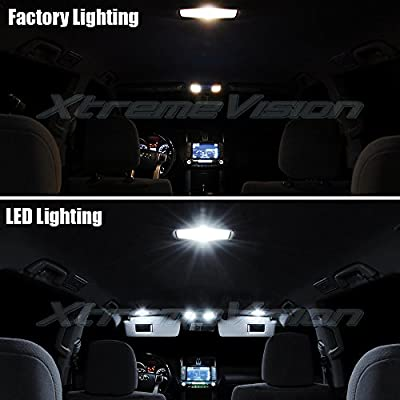 XtremeVision Interior LED for Toyota Highlander 2008-2015 (16 Pieces) Pure White Interior LED Kit + Installation Tool: Automotive