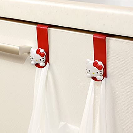 04e58b0b8d42 Image Unavailable. Image not available for. Color  Hello Kitty Plastic Bag  Hook ...