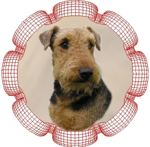 2 x Airedale Terrier Car Window Stickers