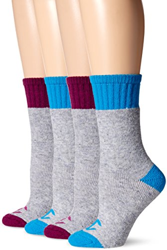 - Champion Women's 4-Pack Full Cushion Outdoor Crew, Pink Assorted, 5-9