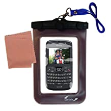 Outdoor Gomadic Waterproof Carrying Case designed for the Kyocera Brio– Keeps Device Clean and Dry