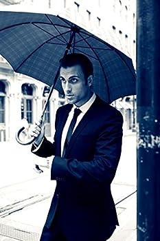 Shedrain Umbrellas Ombrelli Italian Stick Umbrella, Black Foulard, One Size 2